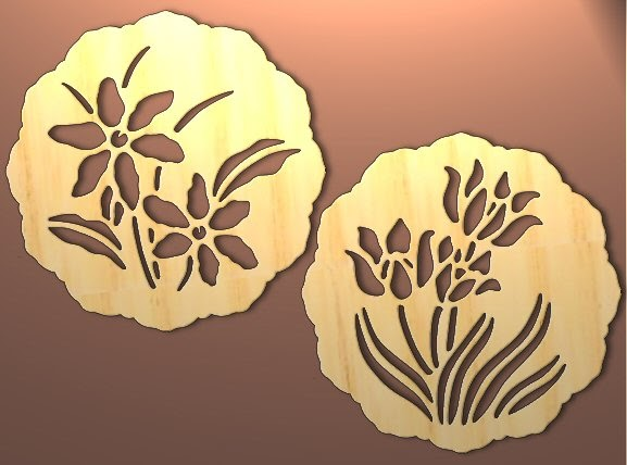 Free Scroll Saw Patterns by Arpop: 2 Spring Trivet or Wall Art Patterns