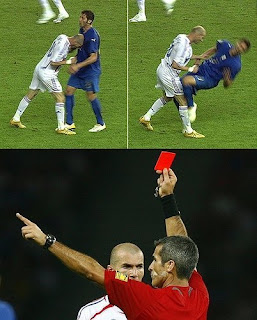 Zinedine Zidane's headbutt at the 2006 World Cup Final