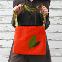Two Leaves Vintage Fabric Tote by Minor Thread