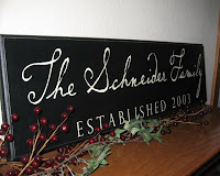 Custom Family Wood Plaque by A Simple Impression