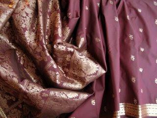 Red Sari Silk