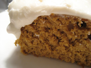 Pumpkin Molasses Cake with Lemon Frosting