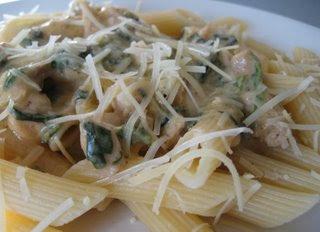 rigatoni con pollo e fungi recipe