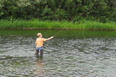 Fly Fishing at Tangle Lakes