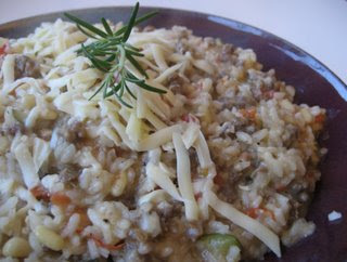 Sausage Risotto with Zucchini and Fontina