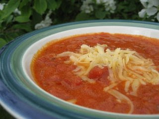 Fresh Tomato Soup with Smoked Gouda