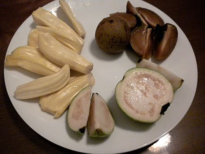 Sapota, White Guava and Jack Fruit