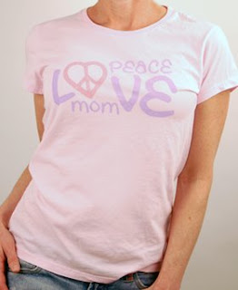 Peace Love Mom T-shirts