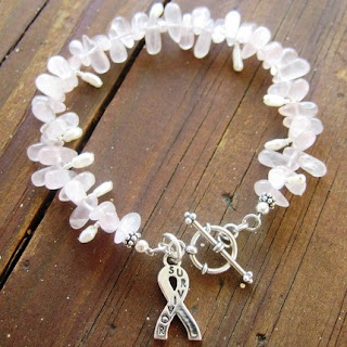 Survivor Bracelet in Rose Quartz by jaC Jewelry