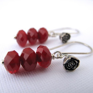 Ruby Earrings from Alison Kelley Designs