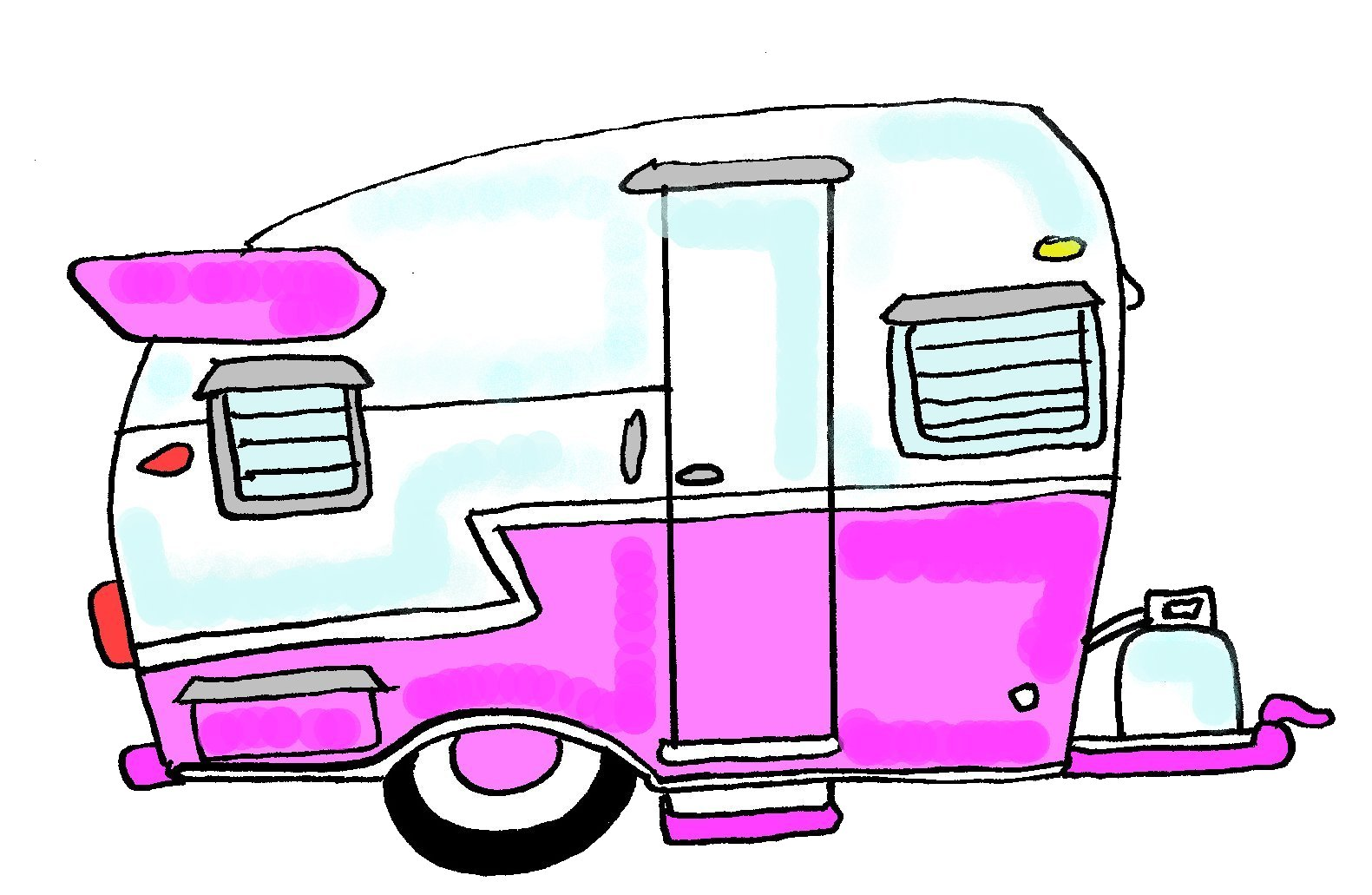 Displaying 19 gt  Images For - Camping Trailer Cartoon   Vintage Camper Clipart