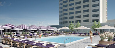 The rooftop pool at the Chelsea hotel in Atlantic City