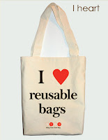 we heart reusable bags