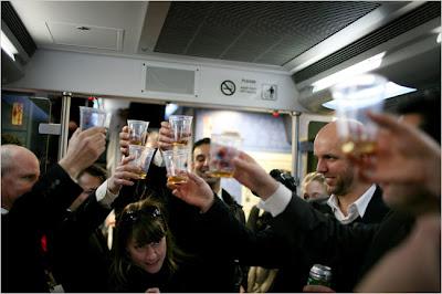 bar car on train from new york to atlantic city