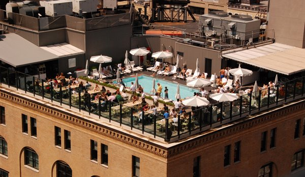 soho house rooftob pool and bar in new york city