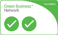 Picture of the logo showing PHPR's 2 ticks accreditation from the Green Business Partnership