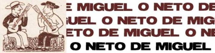 O neto de Miguel