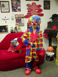 Kids Clown Costume and Clown Dog Costume