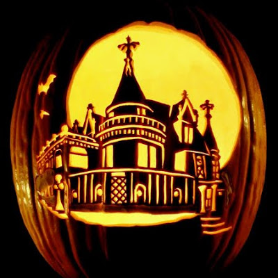Castle Carved in a Pumpkin