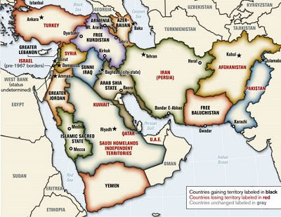 Map Of Middle East And Europe. states in the Middle East