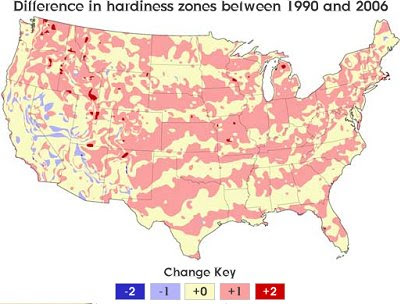 The Map Scroll The Changing Hardiness Zones Of The US - Us map indicating midwest zone