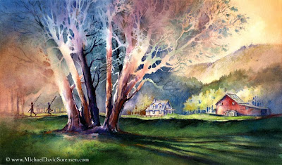 The Exploreres - Watercolor by Michael David Sorensen