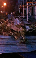 tornado damage-fallen scaffolding