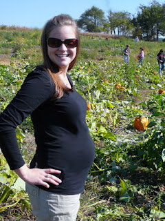 sam at the pumpkin patch