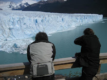 Duncan and Neil at the Perito Moreno Glacier...