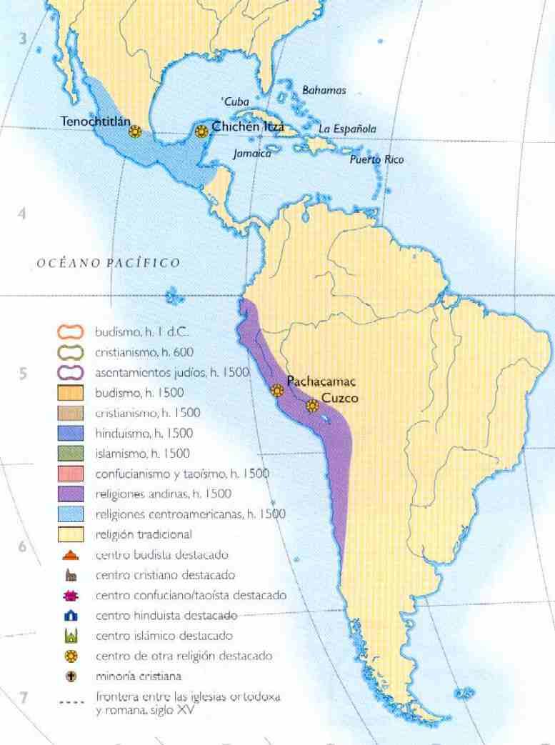 medio donde se ubicaron las civilizaciones mesoamericanas y andinas ...