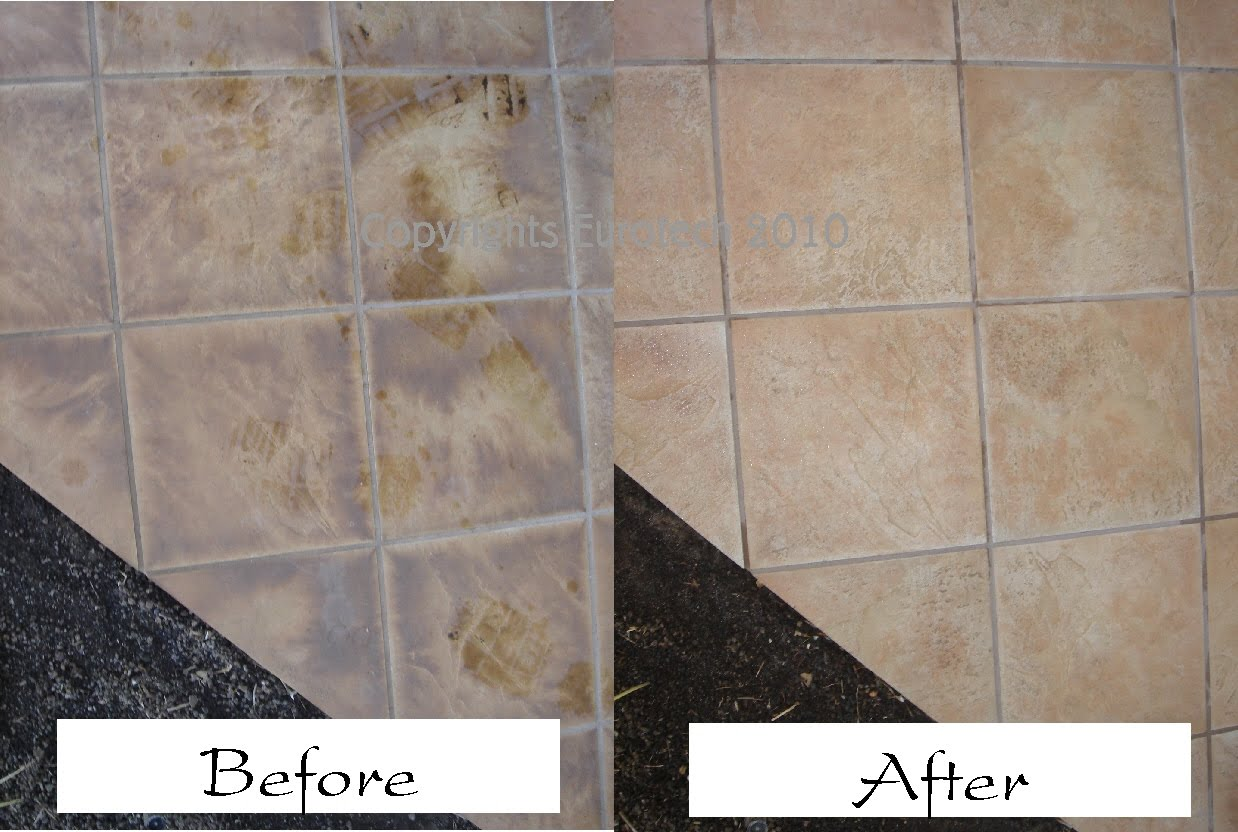 EUROTECH Marble Stone Tile Care MauiHawaii - Cleaning stained floor tiles