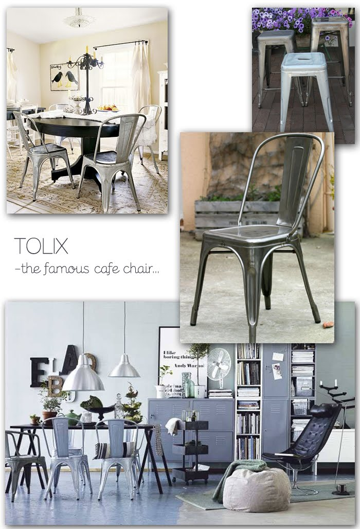 Bon ... Company Tolix U2013 Have Been Adding Style To Dining Spots From Bistros To  Backyards. Each Tolix Café Chair Is Solidly Built Of Rugged Galvanized  Steel.