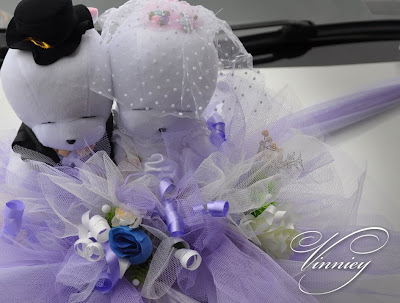 The wedding car decorations should be chosen properly the style of the car