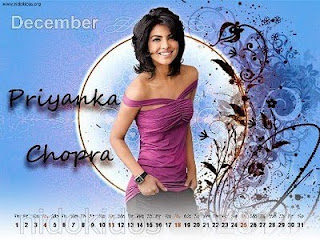 Priyanka Chopra Desktop Calendar 2011, New Year 2011 Priyanka Chopra Photo, Desktop Calendar Wallpaper