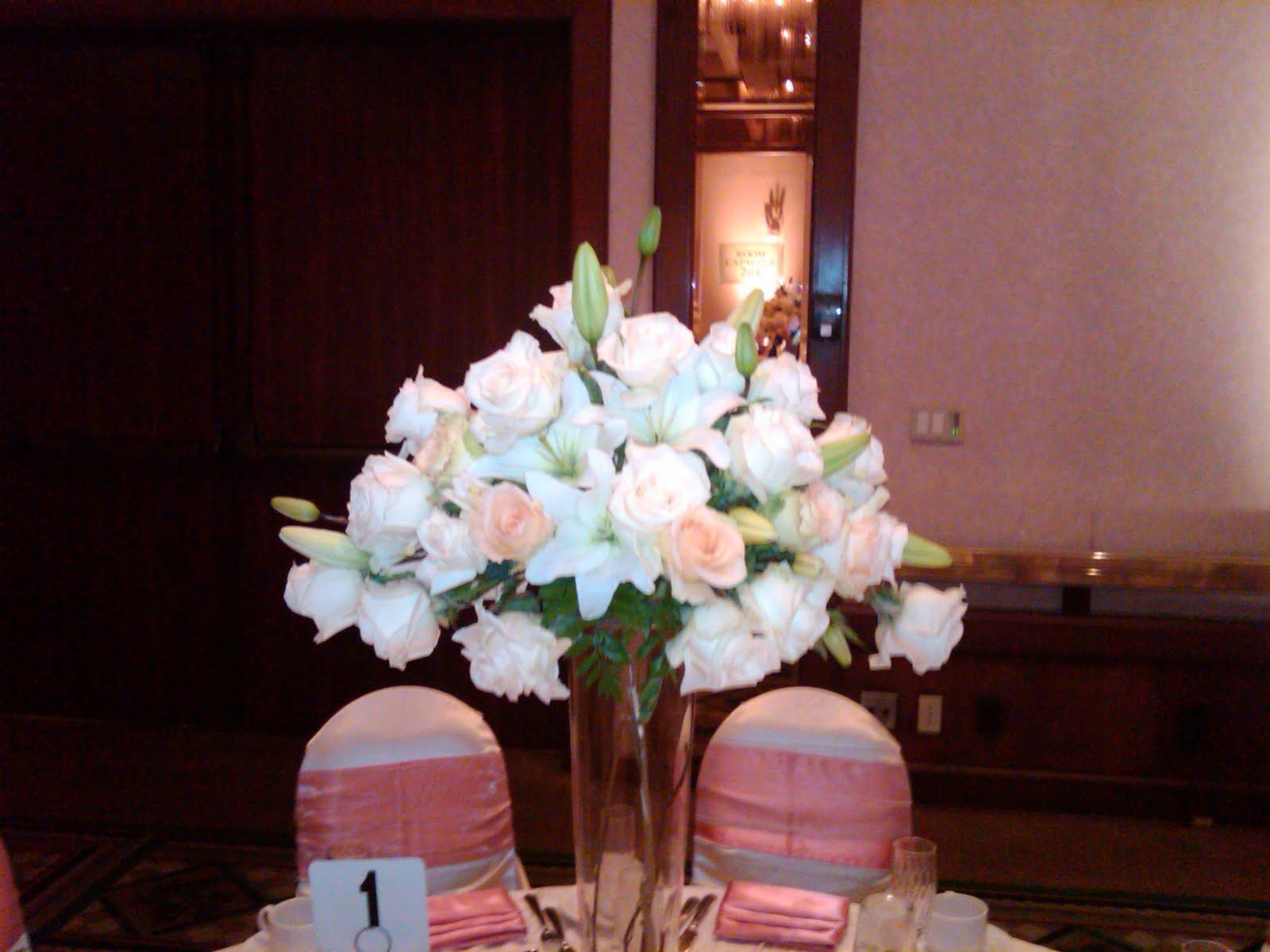 Flowers for all occasions centerpiece and head table