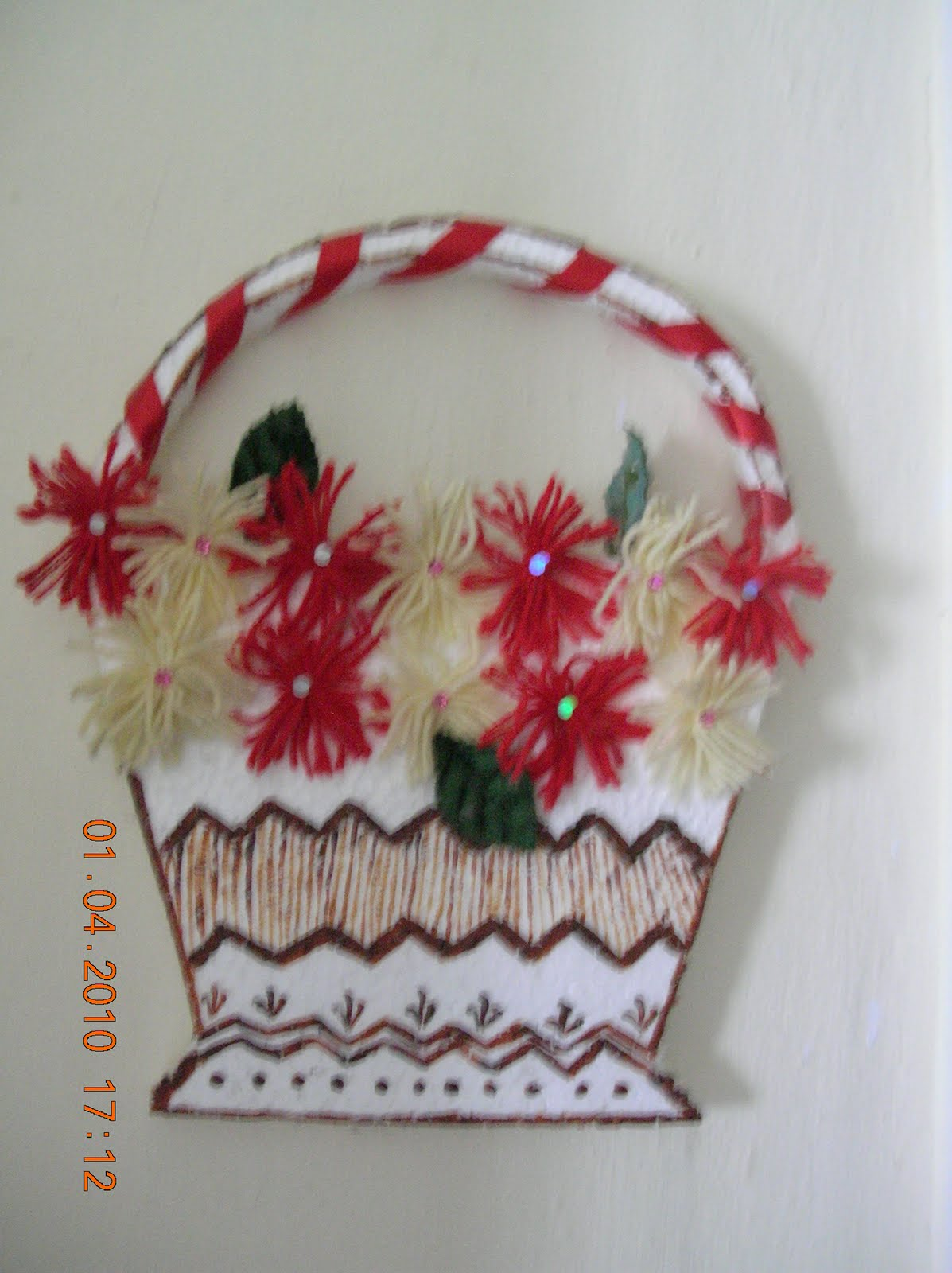 Harithareddy thermocol wall hanging for Wall hanging from waste