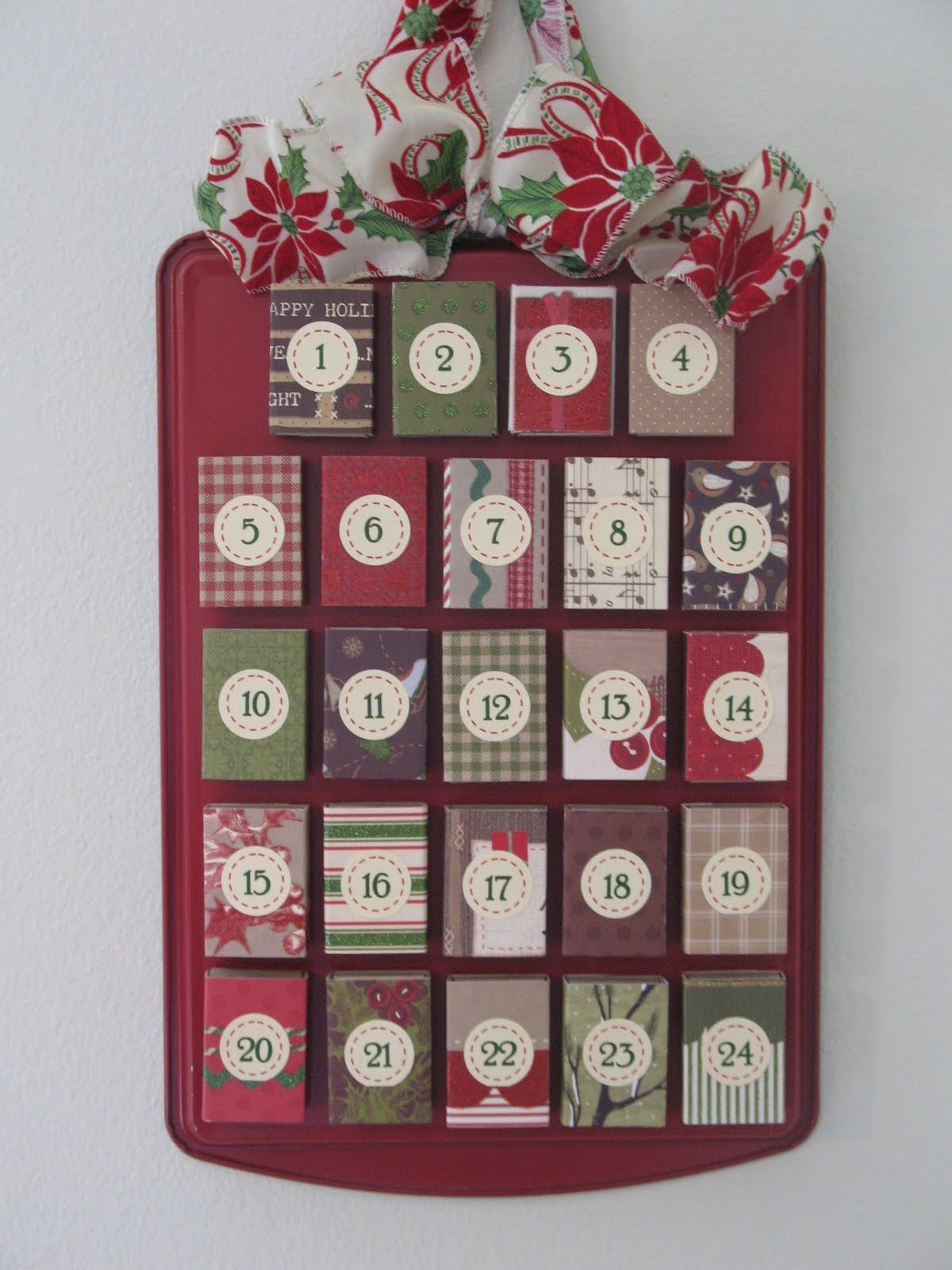 The craft patch matchbox advent calendar for Diy christmas advent calendar ideas