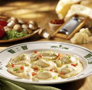 Burnham Baking Olive Garden 39 S Mushroom Ravioli In Cream Sauce