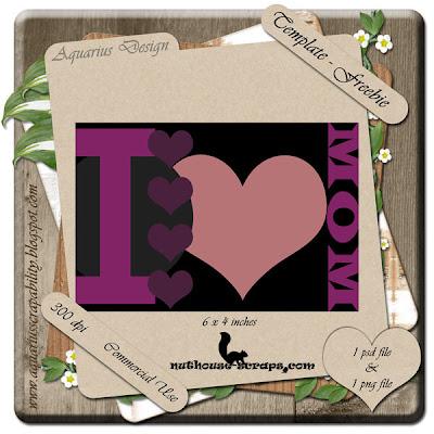 CU I love Mom Template Aquarius-IloveMomTemplate-Preview