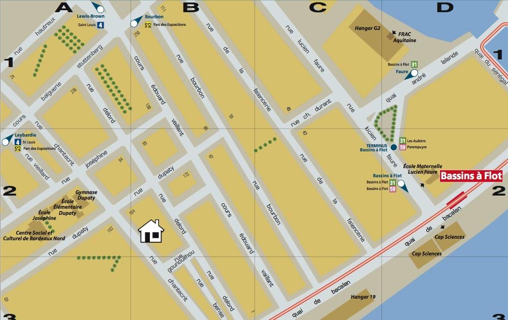 Location bordeaux appartement ensoleill pr s du quai de bacalan plan tramwa - Direct location bordeaux ...
