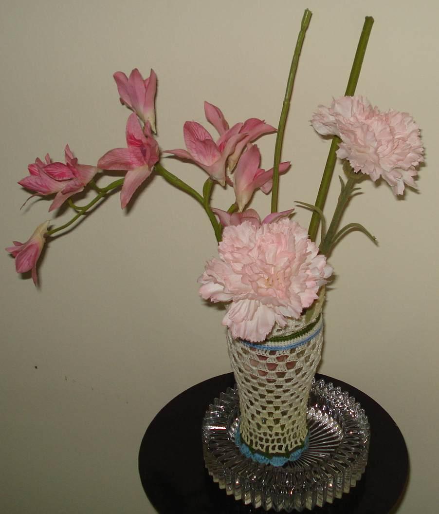 creative crafts from zova: crochet flower vase
