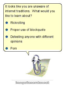 a mockup of the MS-Word animated paperclip assistant