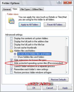 Cara Menghilangkan dan Buat Atribut Super Hidden Pada Folder