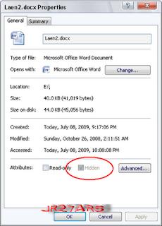 Cara Menghilangkan Super Hidden Pada Folder