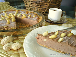 Choco PB Dulce frozen pie no bake