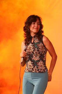 la correntina Gicela Méndez Ribeiro deleitó a todos con su canto