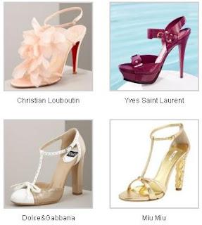 foto di sandali da sposa