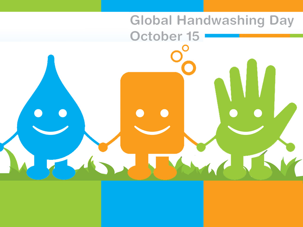 To roll up your sleeves and soap up it's global hand washing day
