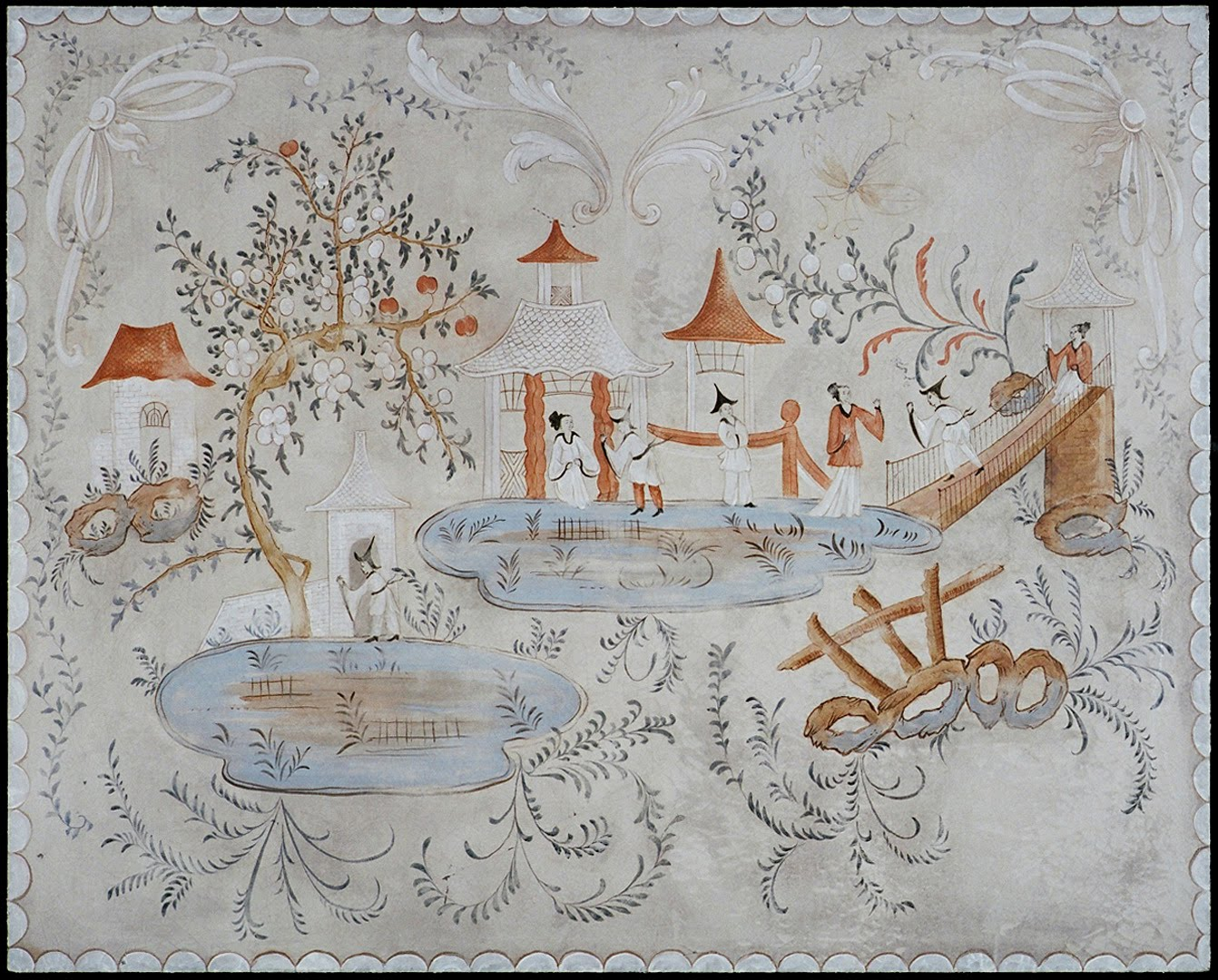 Chinoiserie panels houses plans designs for Chinoiserie design