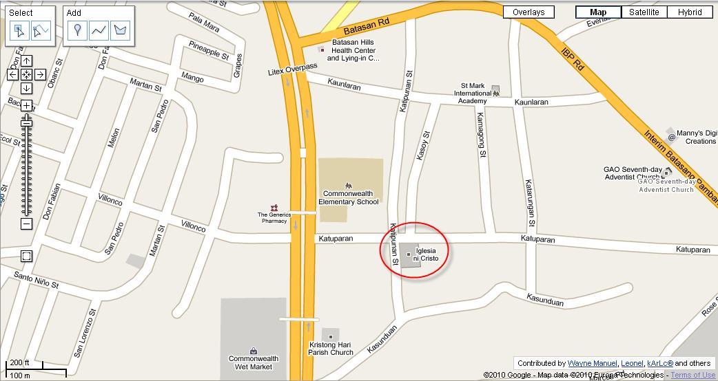 Iglesia ni cristo worship schedules around the metro for for Terrace 45 quezon city